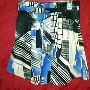 Xxi m/m abstract art puffy pocket skirt